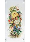 Fanny de Scolari - Composizione Floreale 2 rose - 50x25