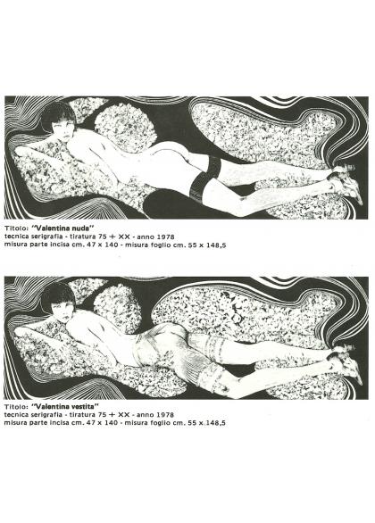 Guido Crepax - Nuda e Vestita - Dittico 2x 50x150