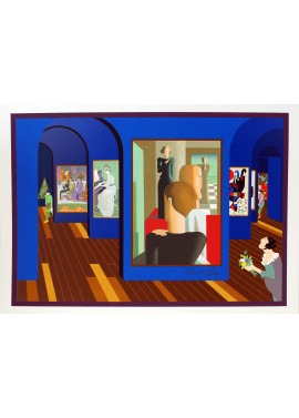 Ugo Nespolo Blue Hall elementary school Museum KunstMuseum