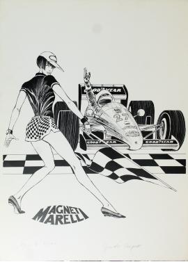 Guido Crepax Valentina Formula 1  70x50