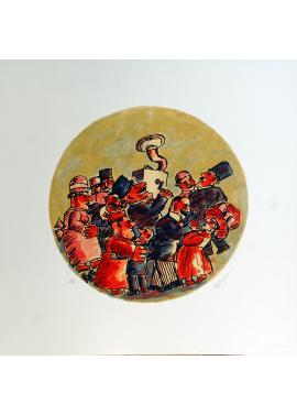Franz Borghese Musicians wall tile
