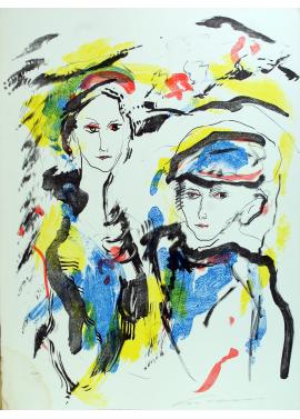 Ernesto Treccani Due Figure 76x56