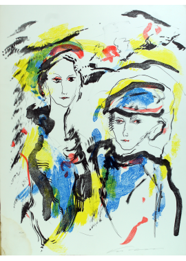 Ernesto Treccani two figures 56x76