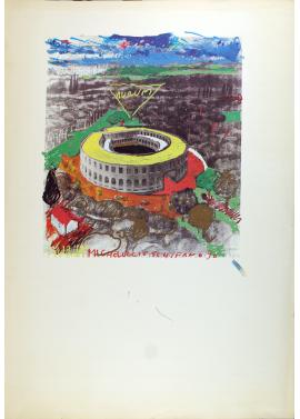 Mario Schifano Coliseum 70x100