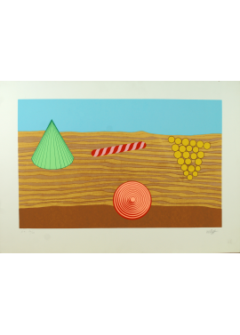 Lucio del Pezzo - Composizione 50x70