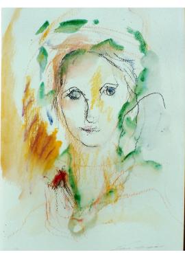 Ernesto Treccani-figura sola-50 x 70