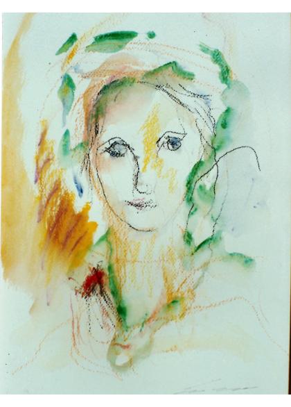 Ernesto Treccani - figura sola - 50x70