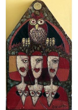Franco Anselmi-Owl-24x44
